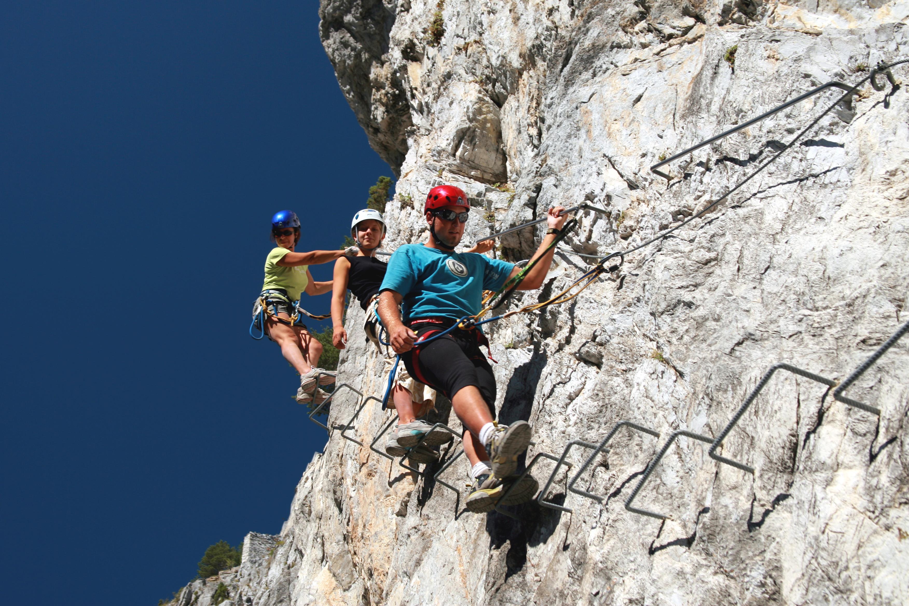 Via ferrata avec Christophe Lichaire en Savoie